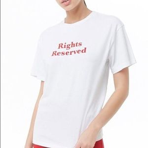 Rights Reserve White Tee